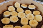 Banana Chocolate Pudding Pie with Sliced Bananas