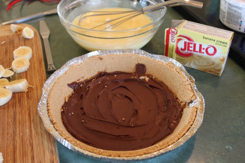 Chocolate Banana Pie Recipe and Picture